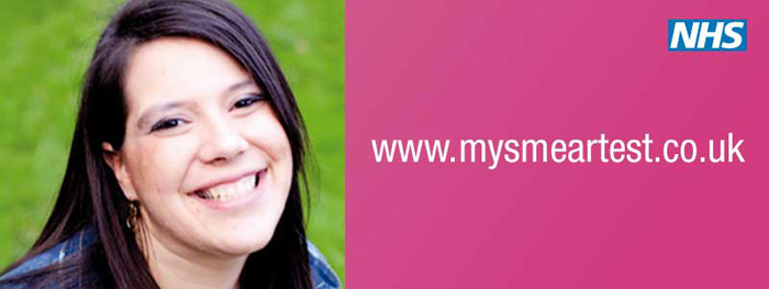 My smear test.  Photo of a smiling young woman