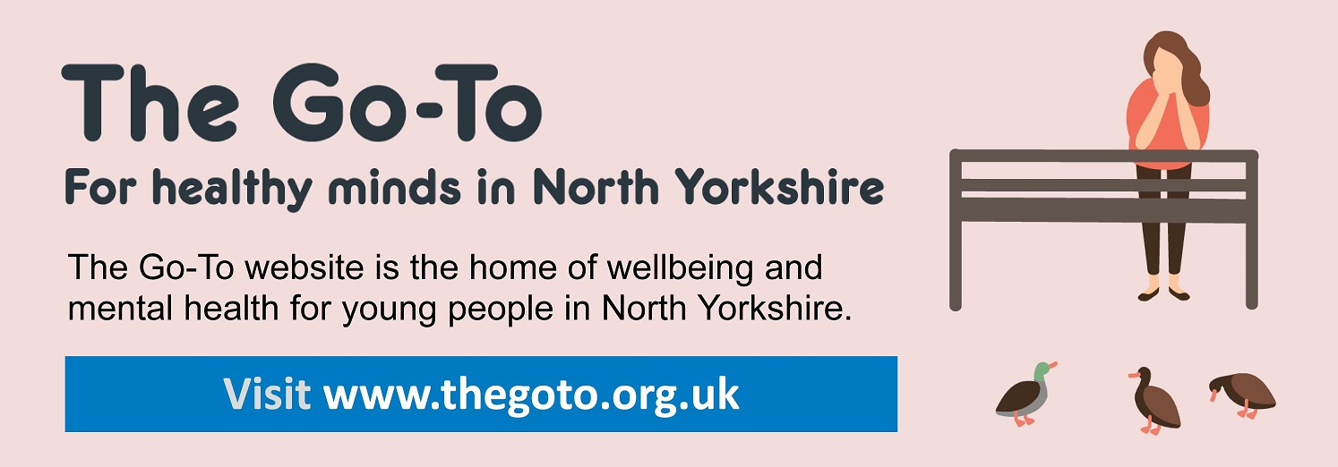The Go-To.  For healthy minds in North Yorkshire.  The Go-To website is the home of wellbeing and mental health for young people in North Yorkshire